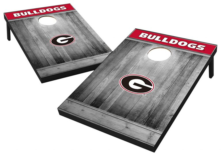 Georgia Bulldogs cornhole board