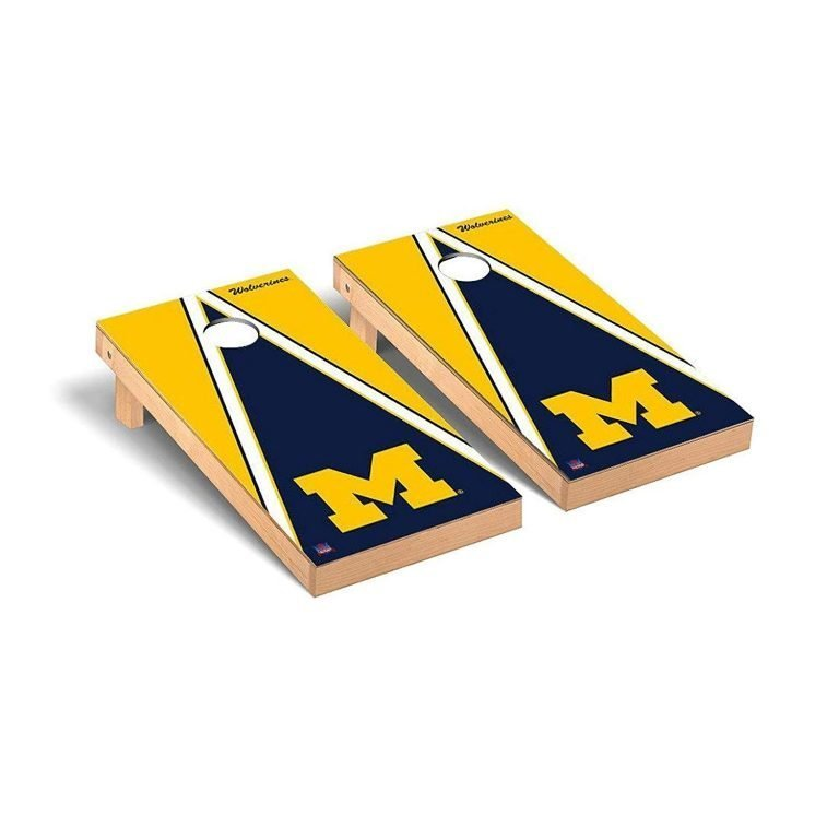 Michigan Wolverines cornhole board