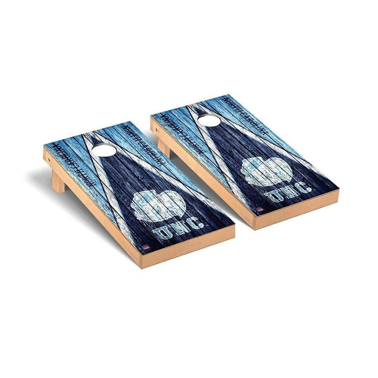 North Carolina Tar Heels cornhole board